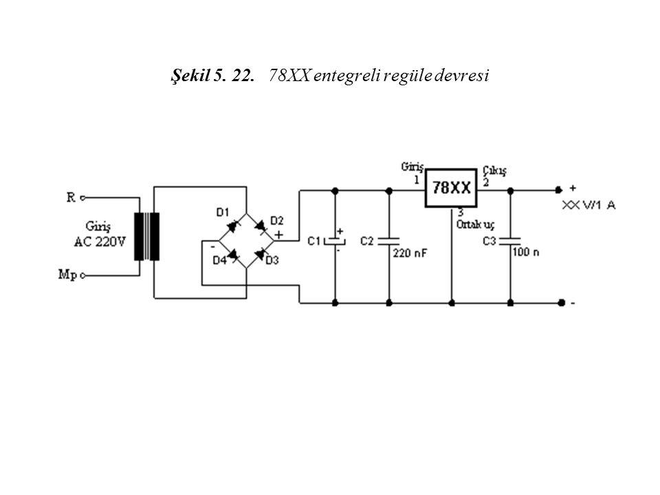 Şekil 5. 22. 78XX entegreli regüle devresi