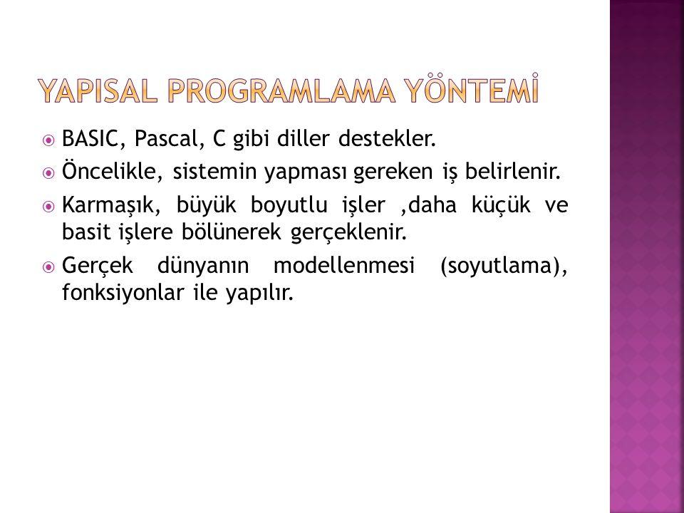 YAPISAL PROGRAMLAMA YÖNTEMİ