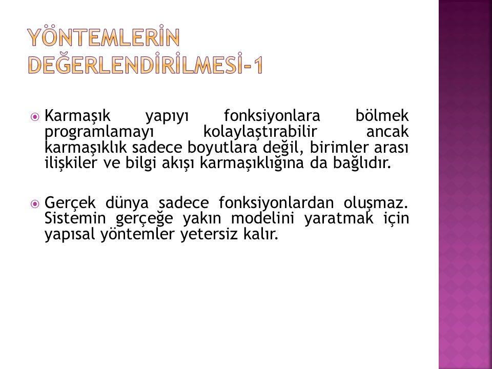 YÖNTEMLERİN DEĞERLENDİRİLMESİ-1