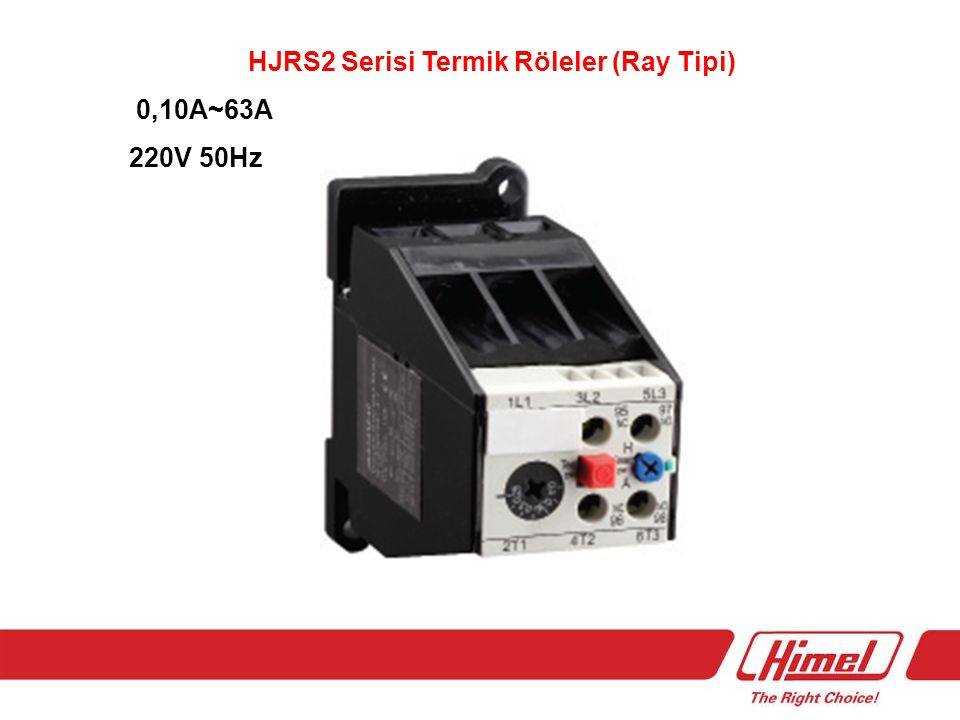 HJRS2 Serisi Termik Röleler (Ray Tipi)
