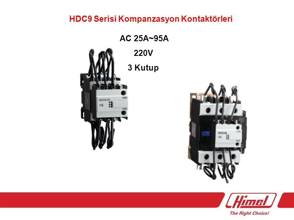 HDC9 Serisi Kompanzasyon Kontaktörleri