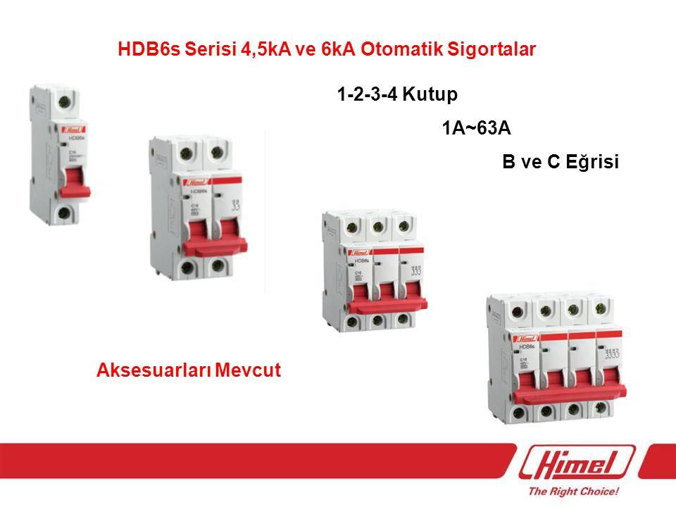 HDB6s Serisi 4,5kA ve 6kA Otomatik Sigortalar