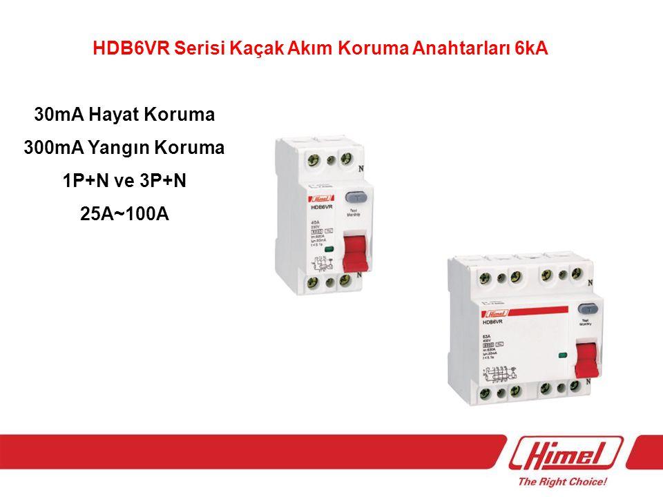 HDB6VR Serisi Kaçak Akım Koruma Anahtarları 6kA