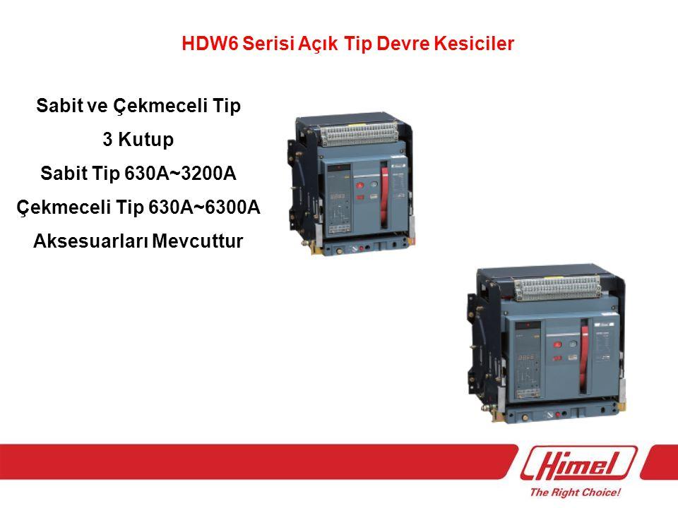 HDW6 Serisi Açık Tip Devre Kesiciler Aksesuarları Mevcuttur