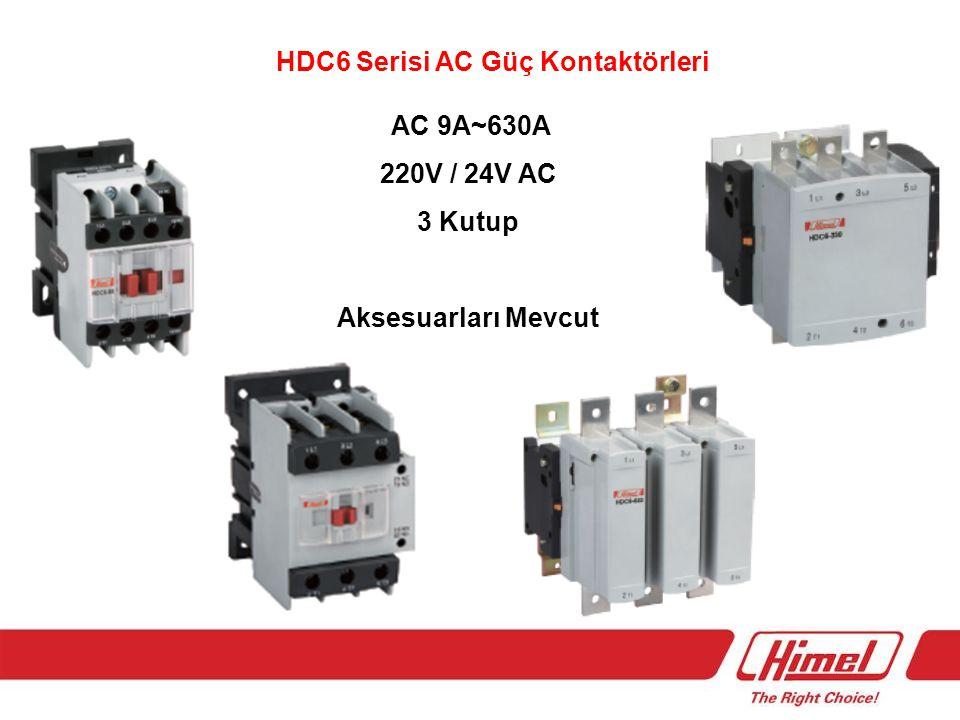 HDC6 Serisi AC Güç Kontaktörleri