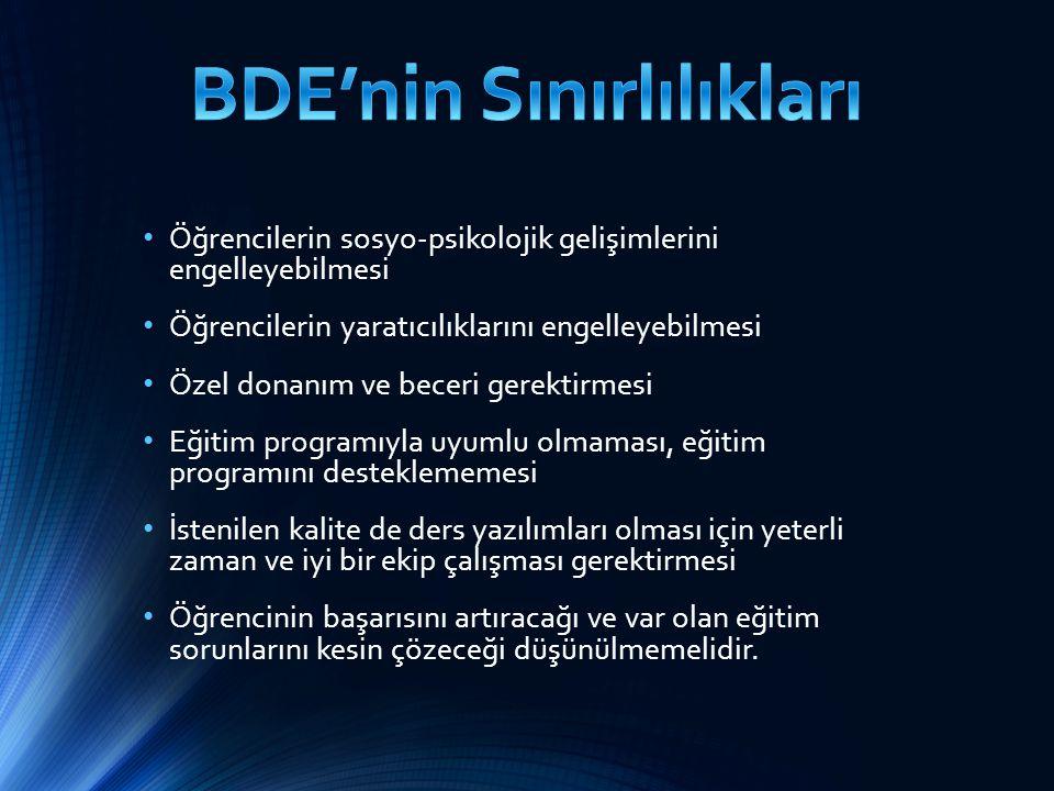 BDE'nin Sınırlılıkları