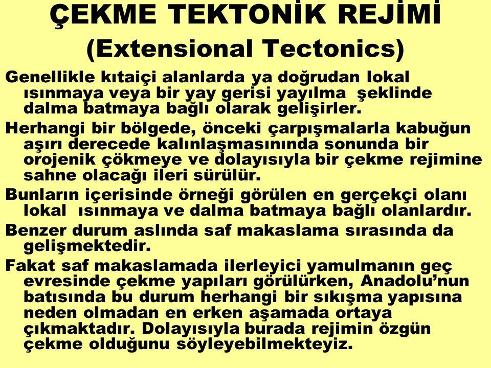 ÇEKME TEKTONİK REJİMİ (Extensional Tectonics)