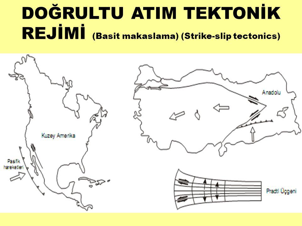 DOĞRULTU ATIM TEKTONİK REJİMİ (Basit makaslama) (Strike-slip tectonics)