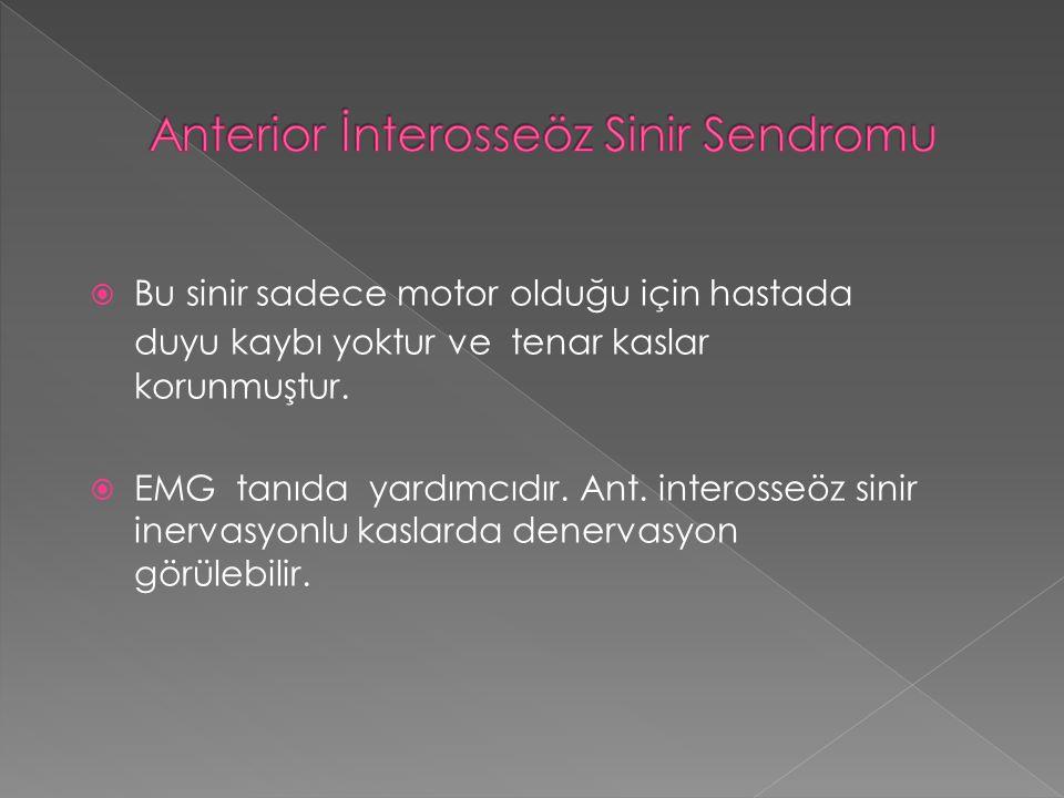 Anterior İnterosseöz Sinir Sendromu