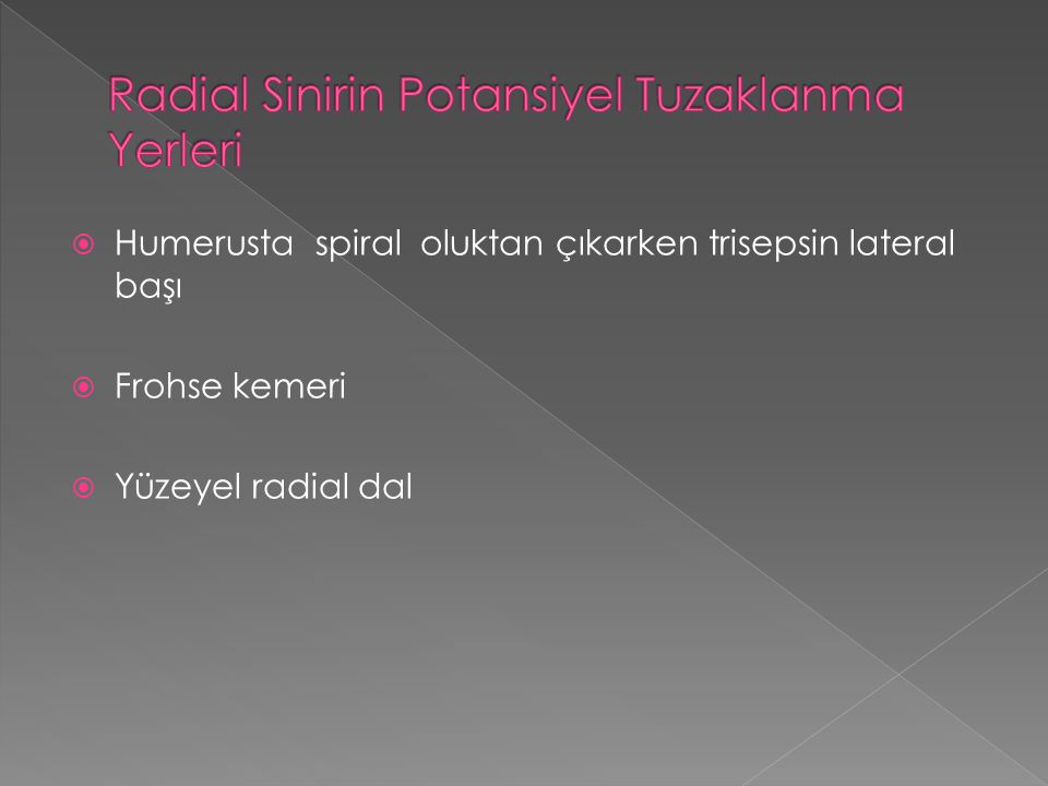 Radial Sinirin Potansiyel Tuzaklanma Yerleri