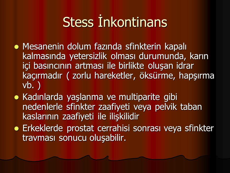 Stess İnkontinans