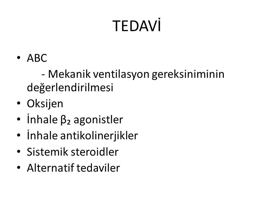 TEDAVİ ABC - Mekanik ventilasyon gereksiniminin değerlendirilmesi