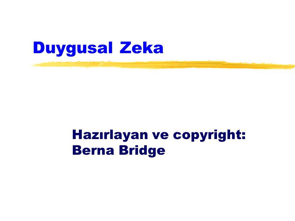 Hazırlayan ve copyright: Berna Bridge