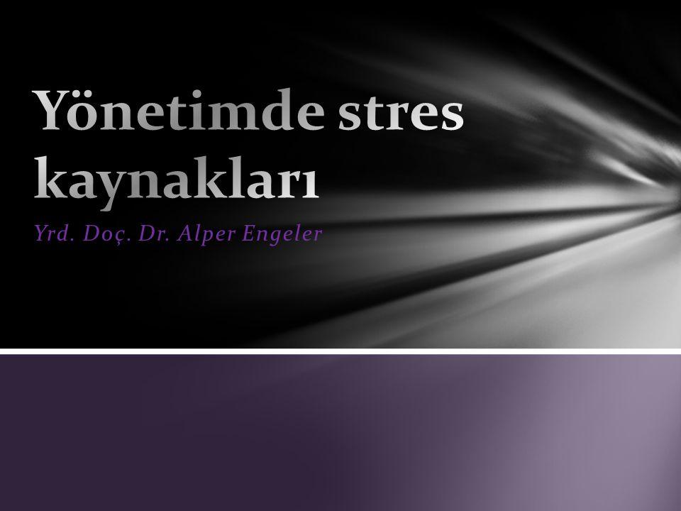 Yönetimde stres kaynakları