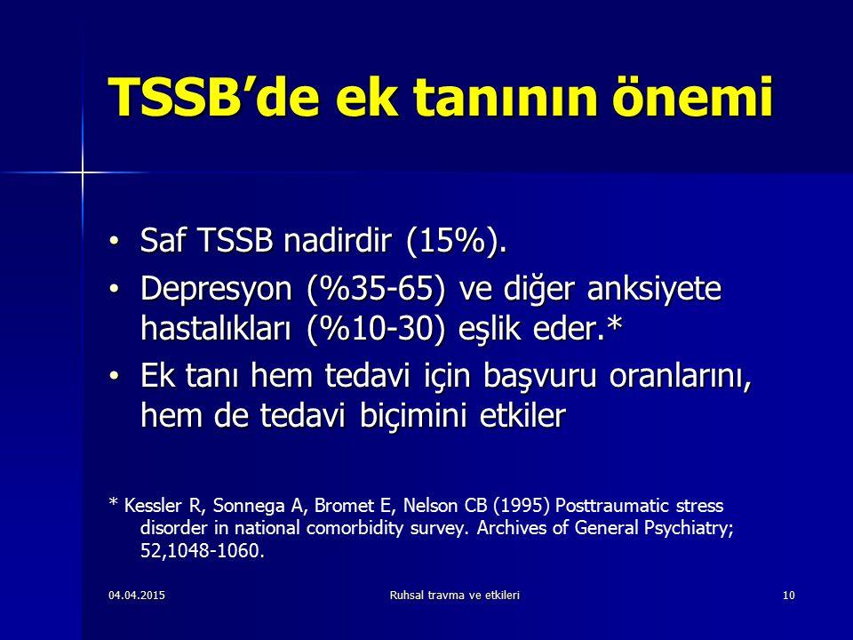 TSSB'de ek tanının önemi