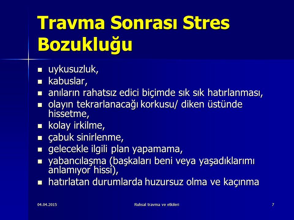Travma Sonrası Stres Bozukluğu