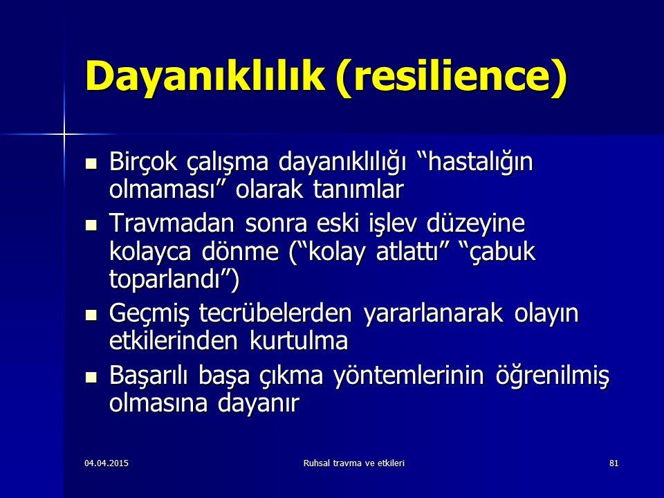 Dayanıklılık (resilience)