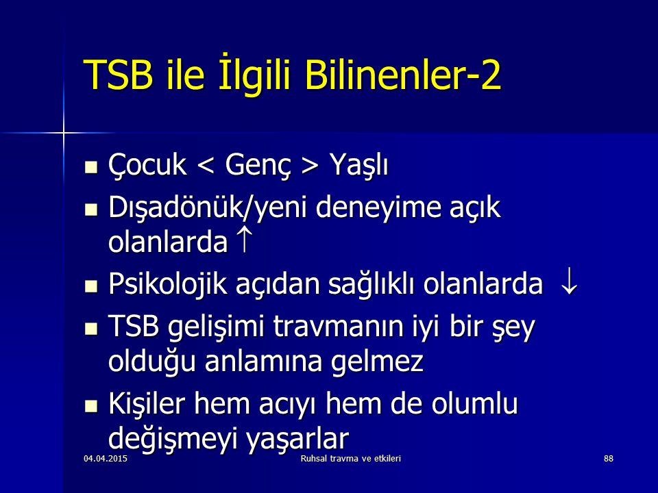 TSB ile İlgili Bilinenler-2