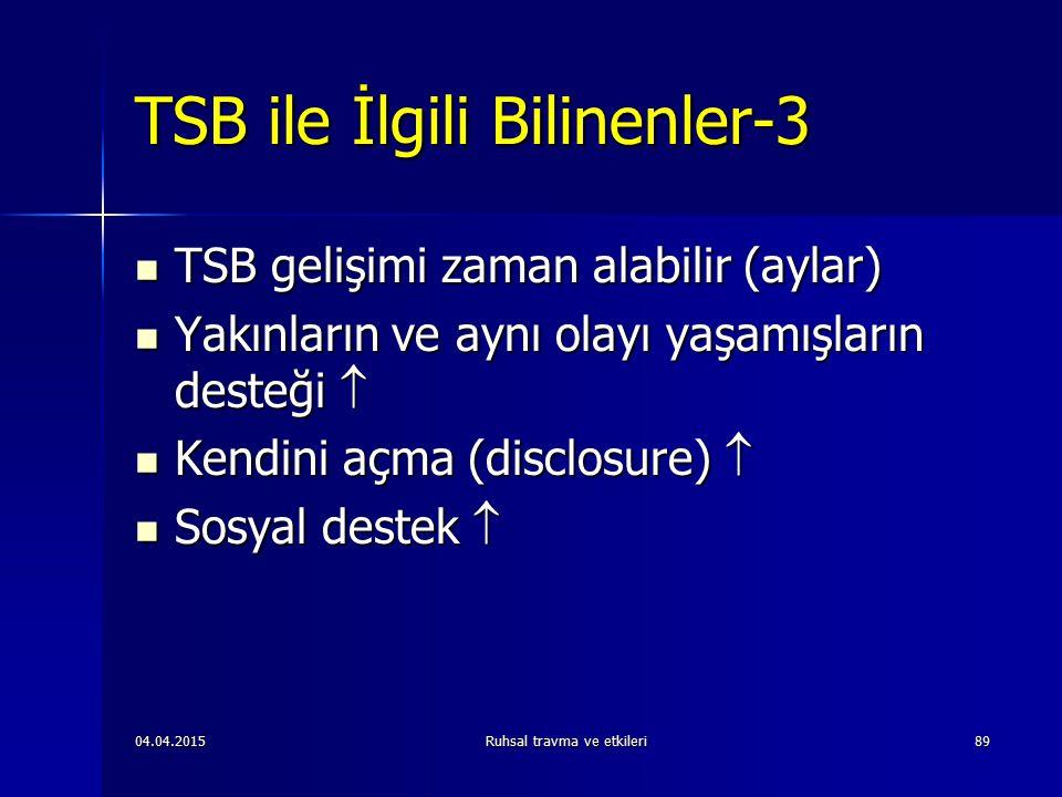 TSB ile İlgili Bilinenler-3
