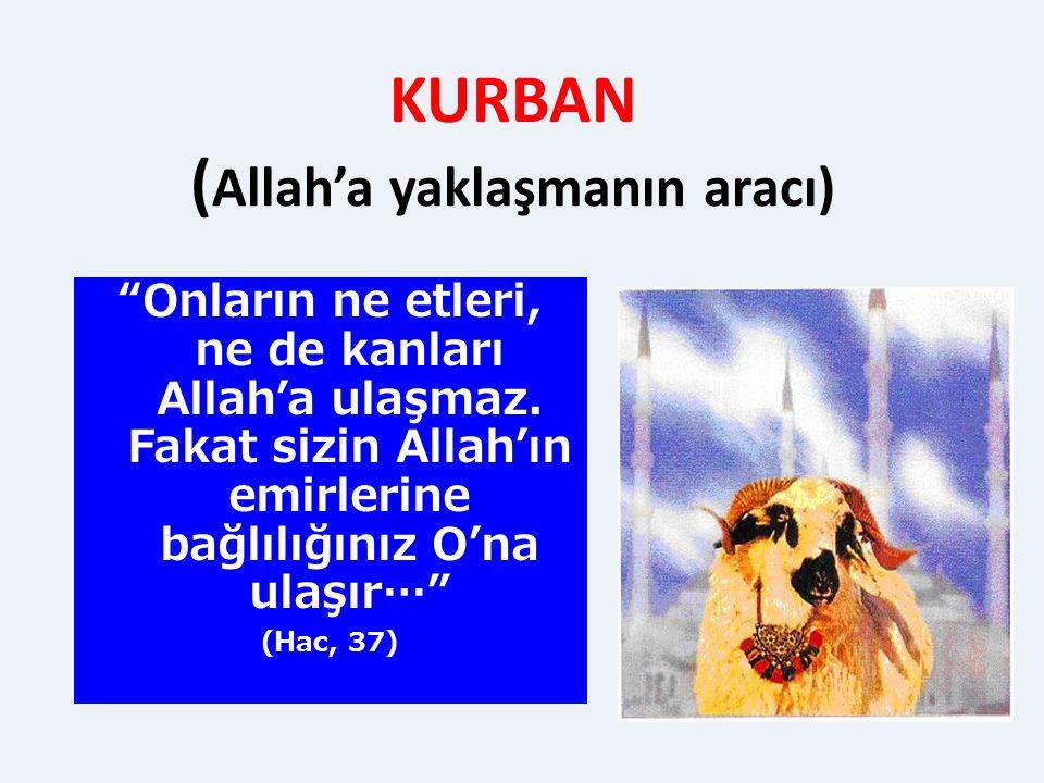 KURBAN (Allah'a yaklaşmanın aracı)
