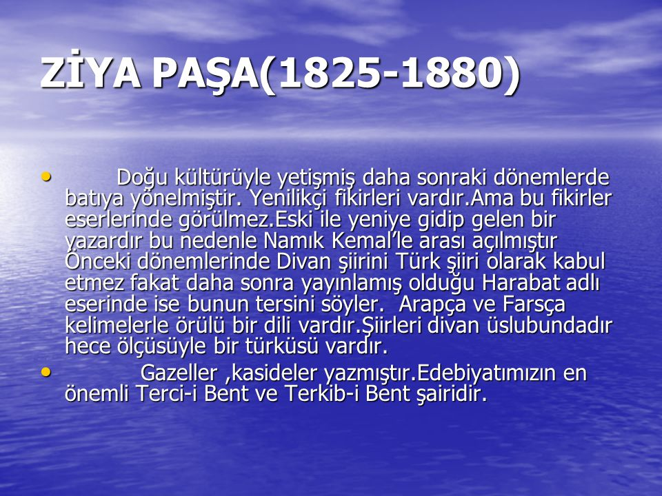 ZİYA PAŞA(1825-1880)