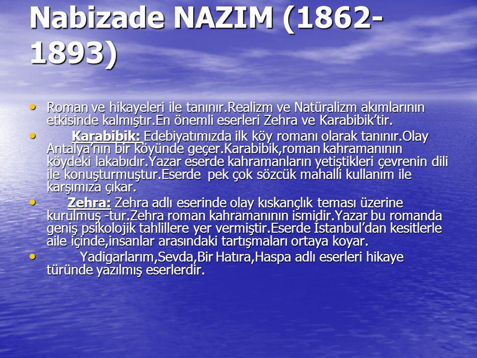 Nabizade NAZIM (1862-1893)