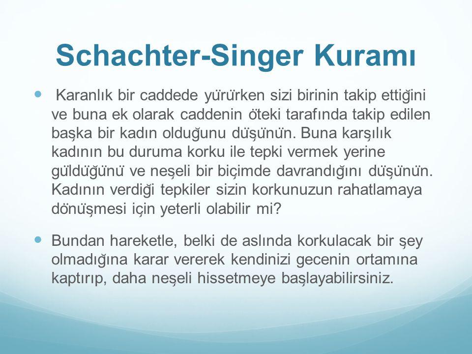 Schachter-Singer Kuramı