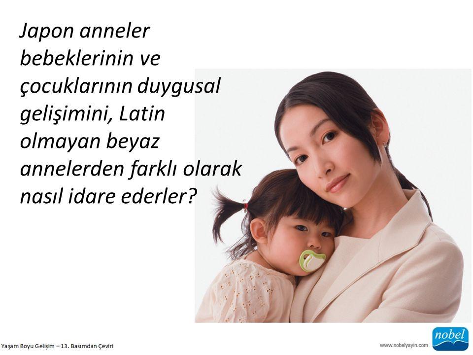 Japon anneler bebeklerinin ve çocuklarının duygusal
