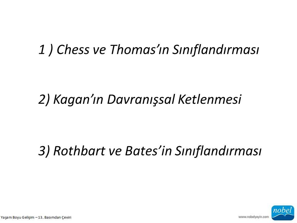 1 ) Chess ve Thomas'ın Sınıflandırması
