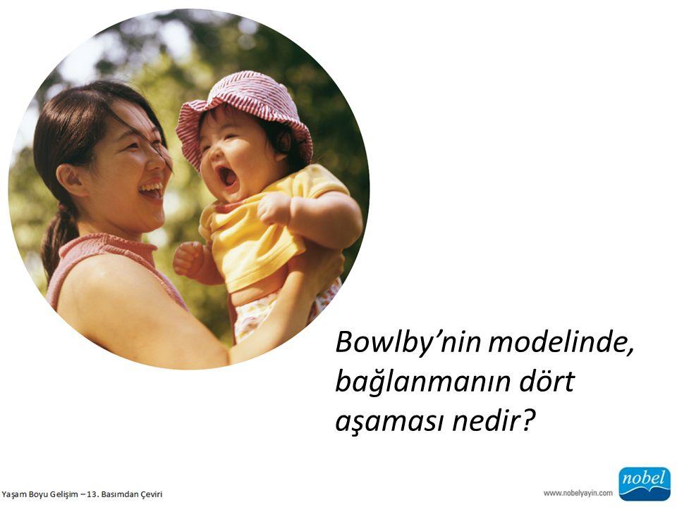 Bowlby'nin modelinde, bağlanmanın dört aşaması nedir
