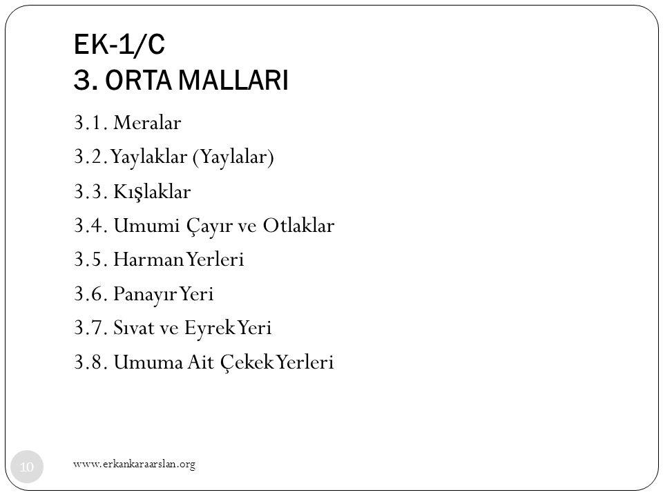 EK-1/C 3. ORTA MALLARI
