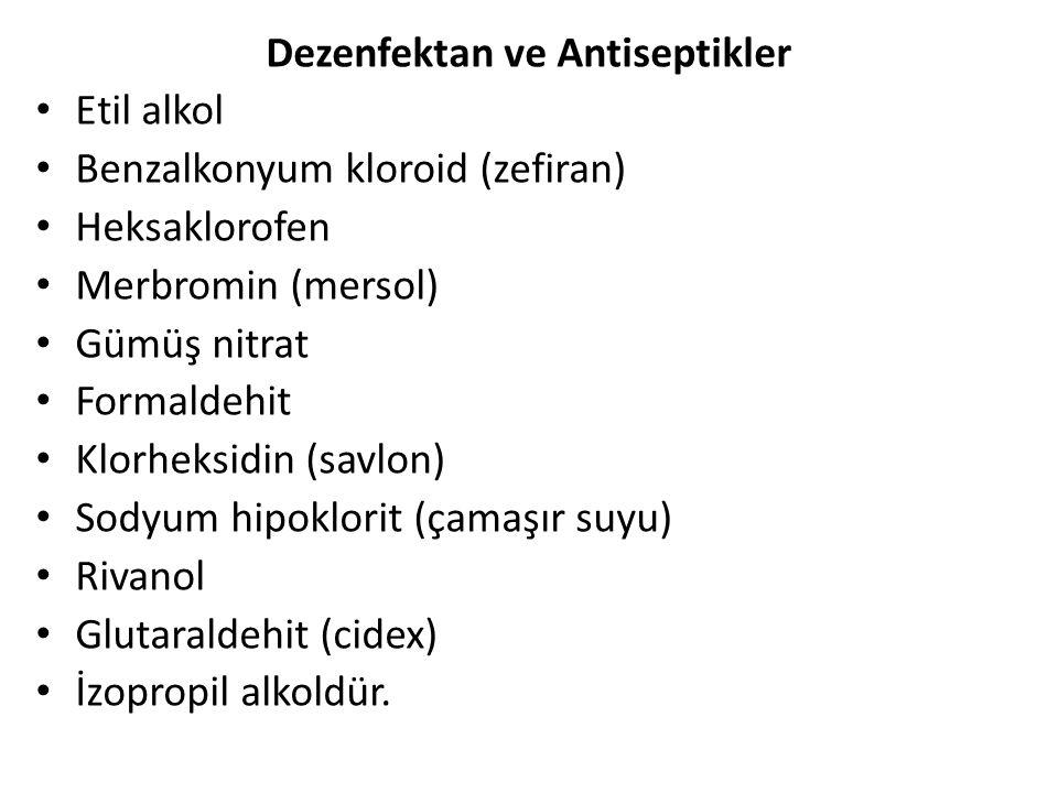 Dezenfektan ve Antiseptikler