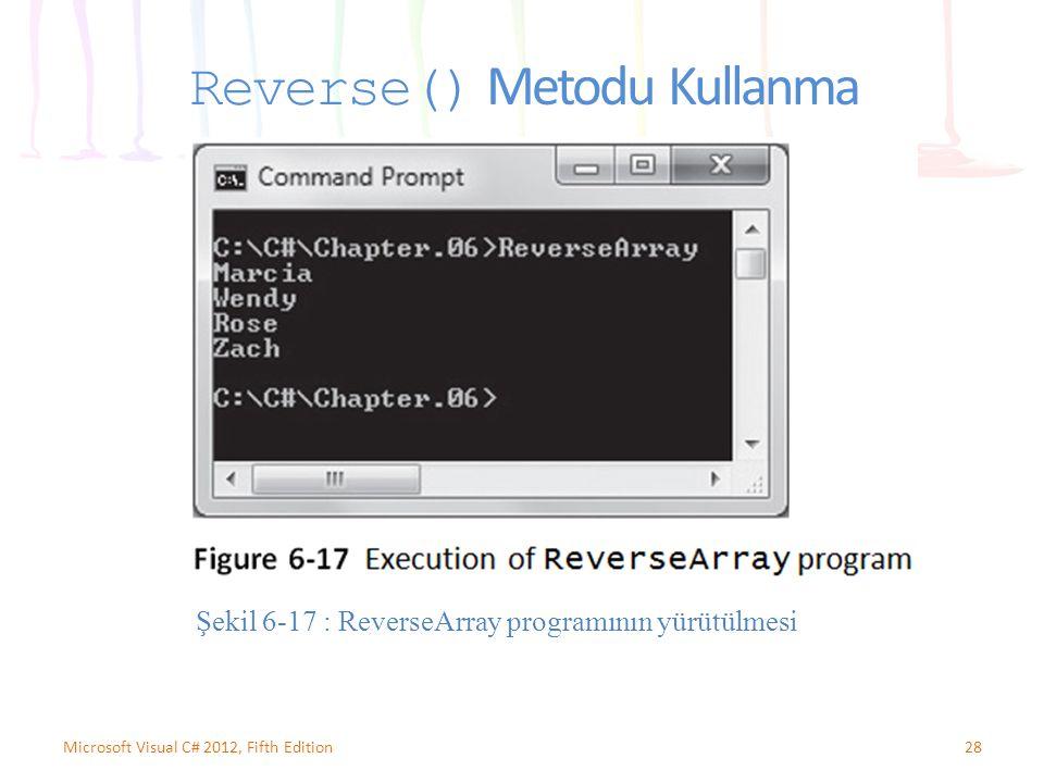 Reverse() Metodu Kullanma