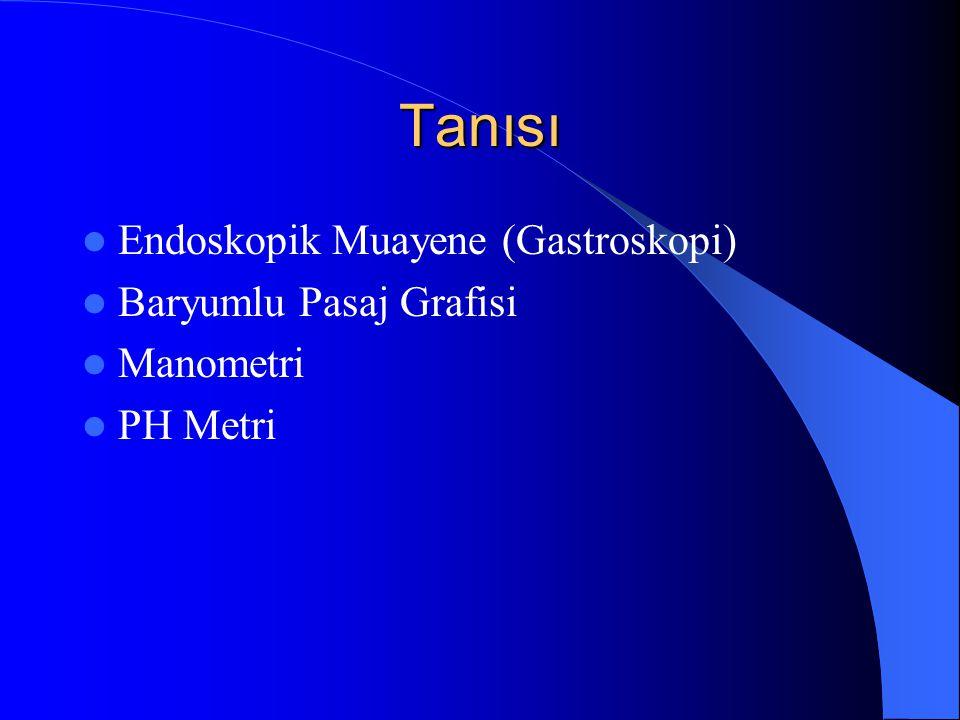 Tanısı Endoskopik Muayene (Gastroskopi) Baryumlu Pasaj Grafisi