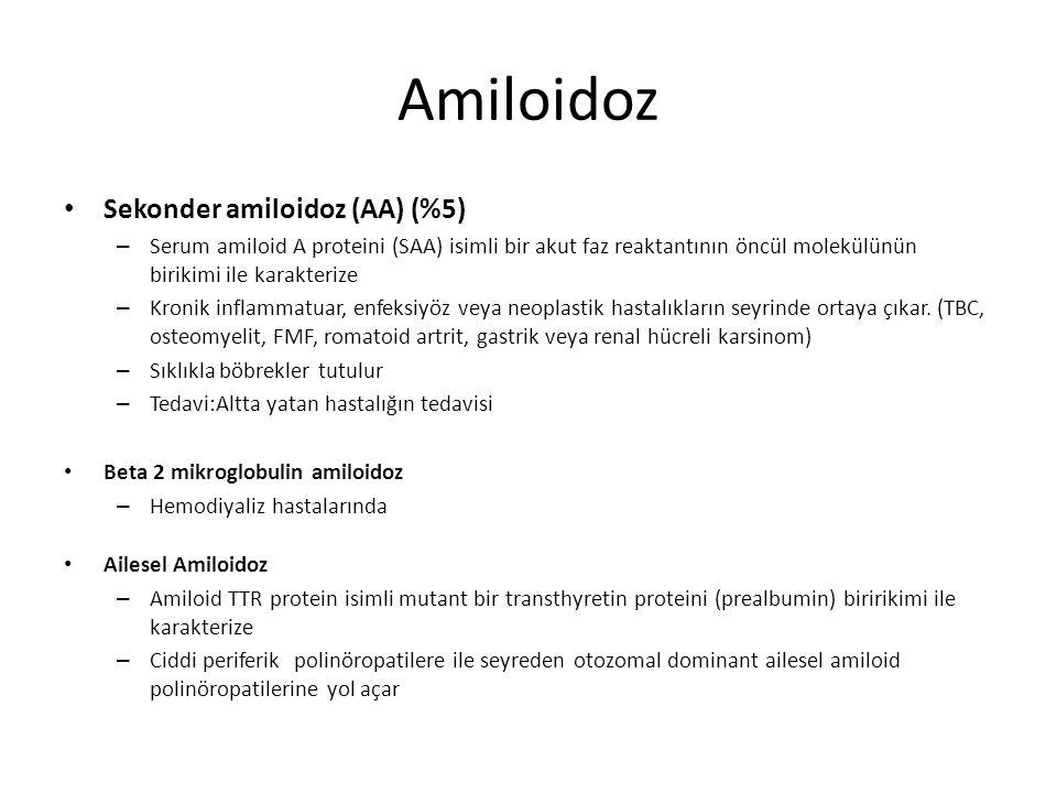 Amiloidoz Sekonder amiloidoz (AA) (%5)
