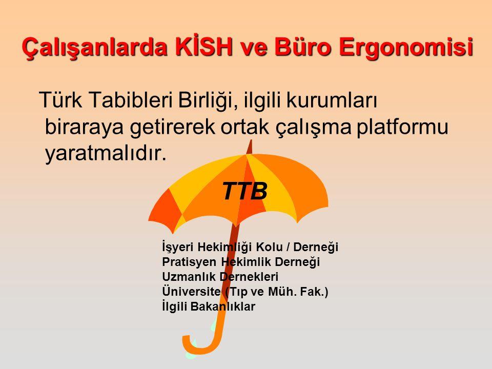 Türk Tabibleri Birliği, ilgili kurumları biraraya getirerek ortak çalışma platformu yaratmalıdır.
