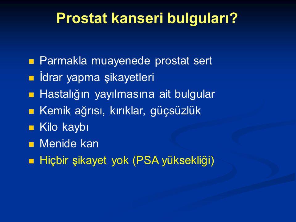 Prostat kanseri bulguları