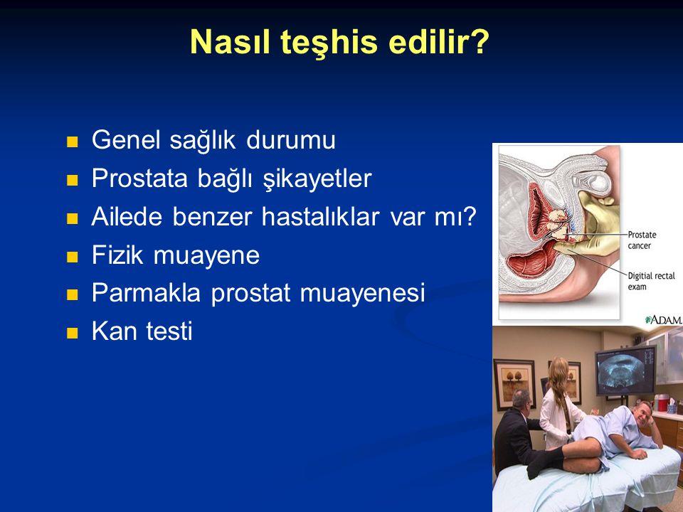 Nasıl teşhis edilir Genel sağlık durumu Prostata bağlı şikayetler
