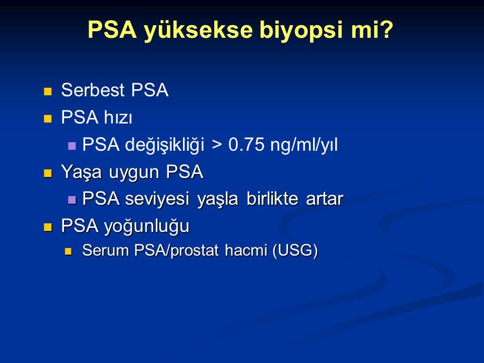 PSA yüksekse biyopsi mi