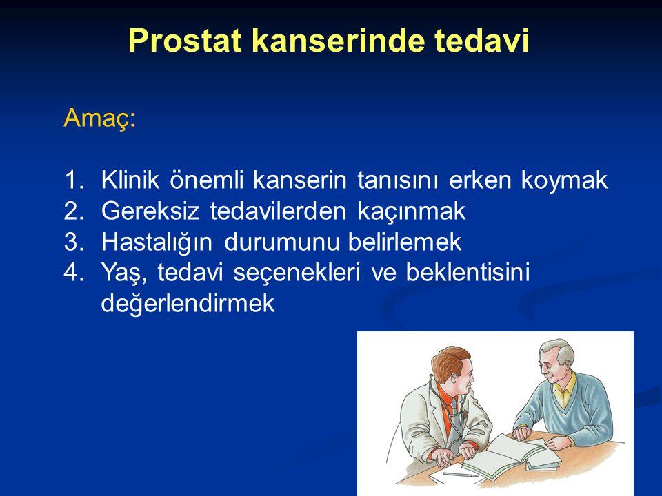 Prostat kanserinde tedavi