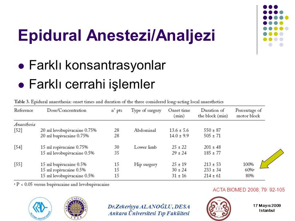 Epidural Anestezi/Analjezi