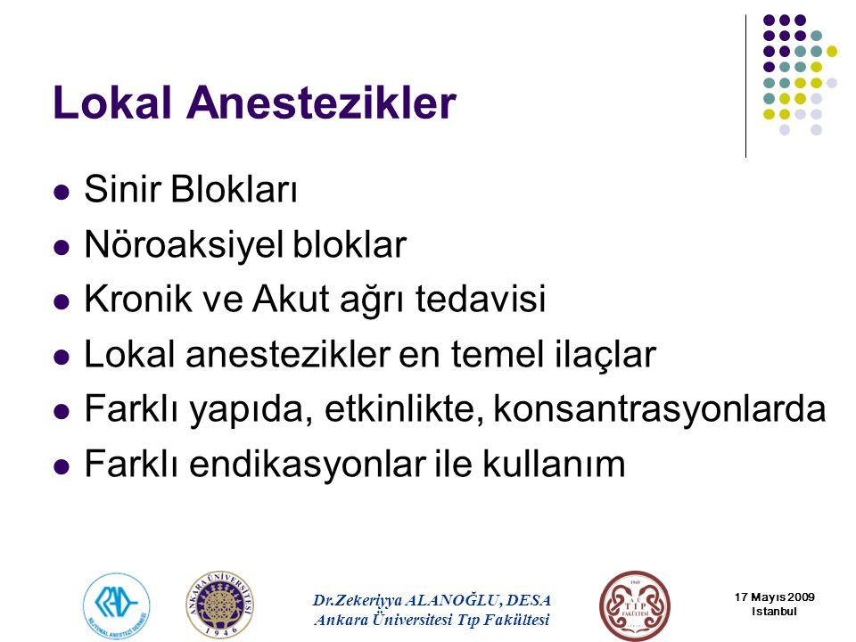 Lokal Anestezikler Sinir Blokları Nöroaksiyel bloklar