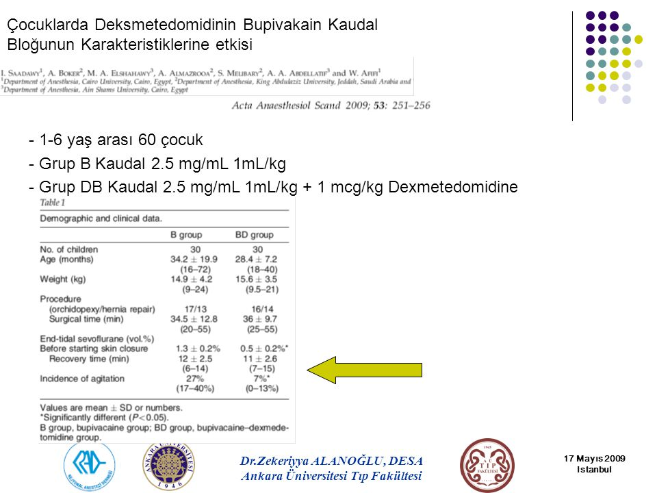 Grup B Kaudal 2.5 mg/mL 1mL/kg