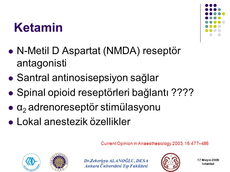 Ketamin N-Metil D Aspartat (NMDA) reseptör antagonisti