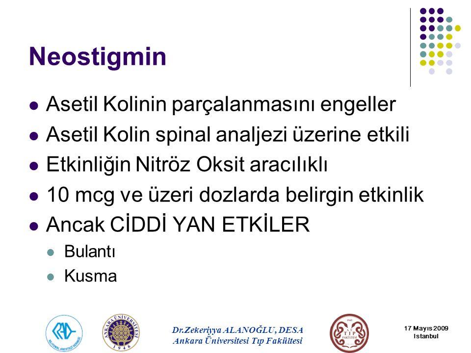 Neostigmin Asetil Kolinin parçalanmasını engeller