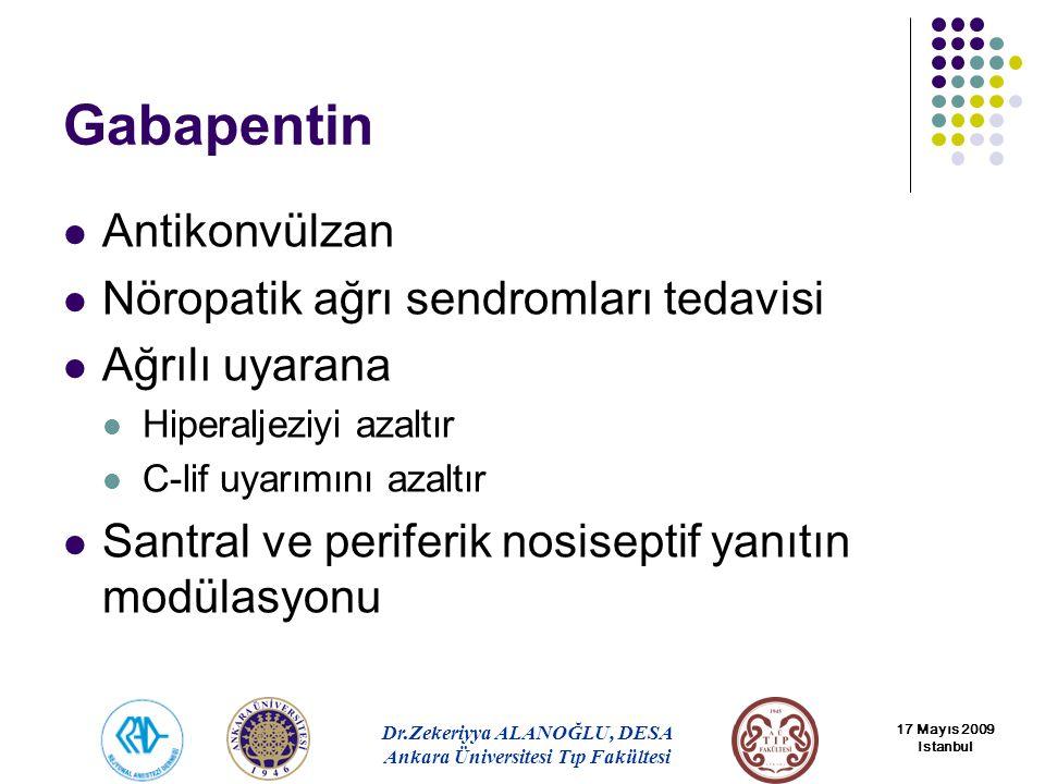 Gabapentin Antikonvülzan Nöropatik ağrı sendromları tedavisi