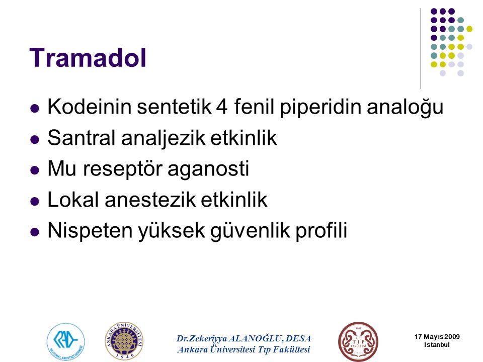 Tramadol Kodeinin sentetik 4 fenil piperidin analoğu