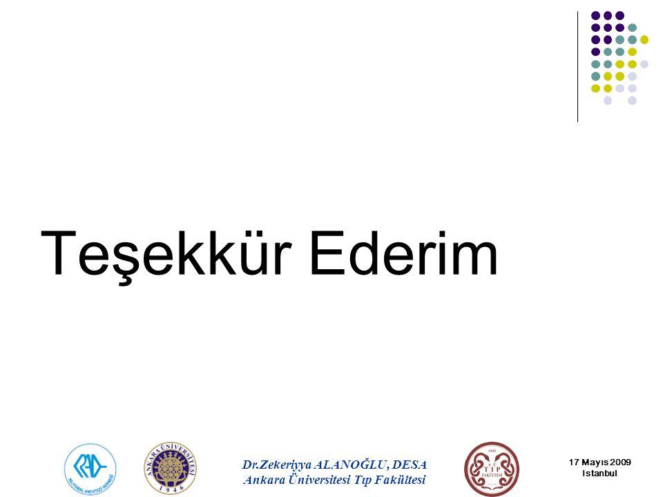 Teşekkür Ederim 17 Mayıs 2009 Istanbul