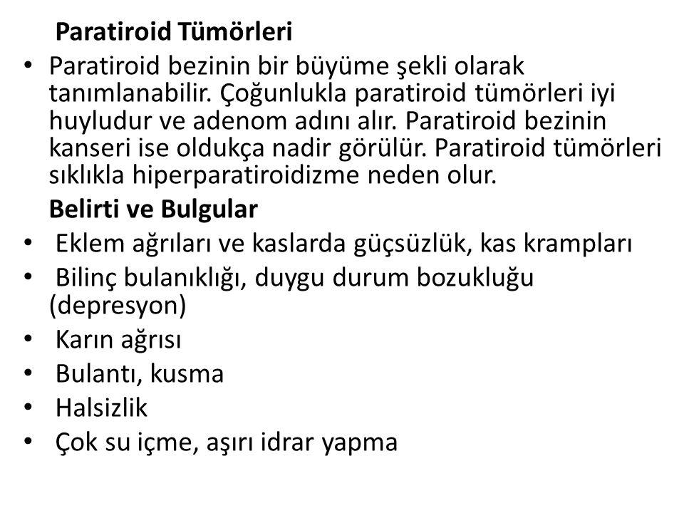 Paratiroid Tümörleri