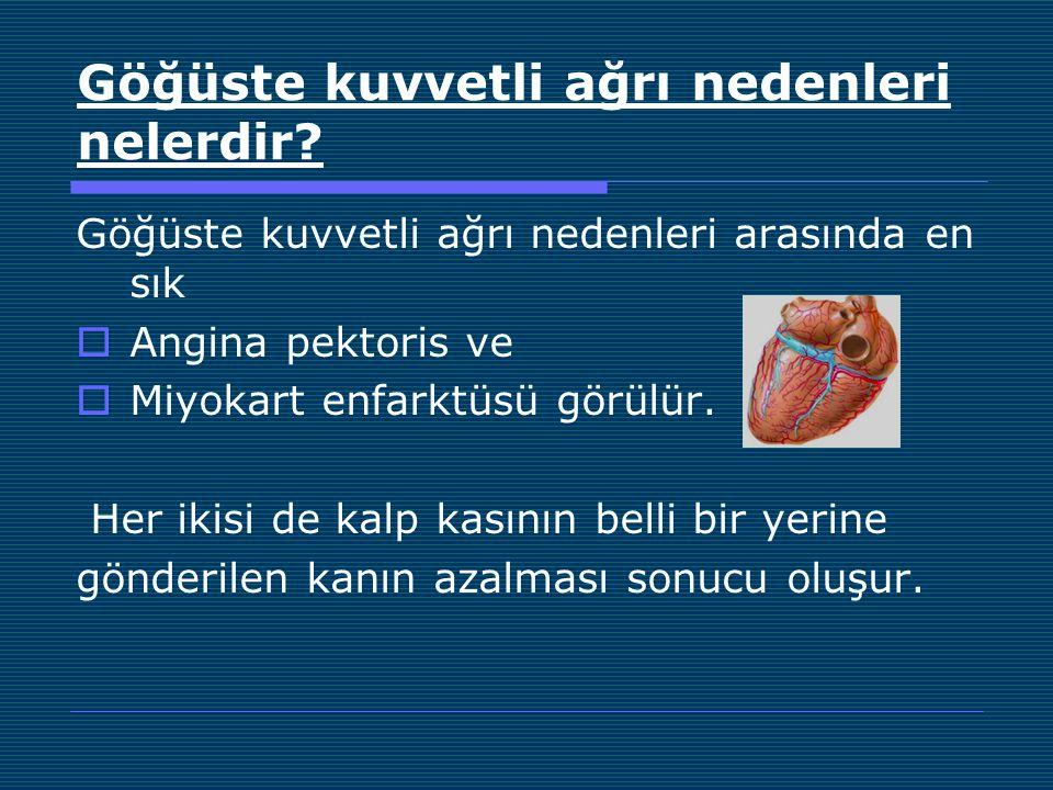 Göğüste kuvvetli ağrı nedenleri nelerdir